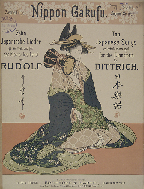 Nippon Gakufu. Zweite Folge. Zehn Japanische Volkslieder (Second Series, Ten Japanese Songs collected and arranged for the Pianoforte by R. Dittrich), 1895