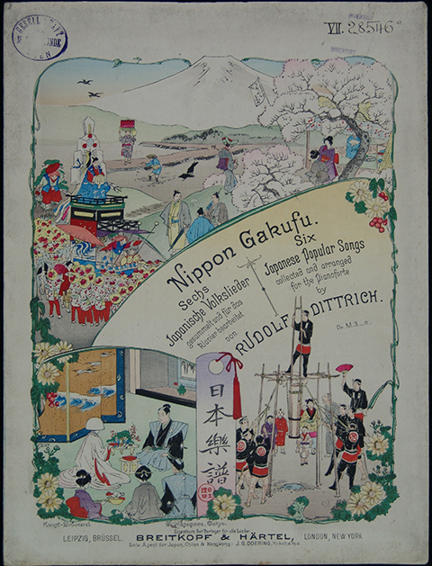 Nippon Gakufu: Sechs Japanische Volkslieder (Six Japanese Popular Songs collected and arranged for the Pianoforte by R. Dittrich), 1894