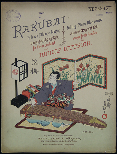 RAKUBAI: Fallende Pflaumenblüten. Japanisches Lied mit Koto (Falling Plum Blossoms. Japanese Songs with Koto arranged for the Pianoforte by Rudolf Dittrich), 1894